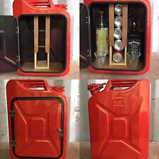 Upcycled Red Jerry Can Mini Bar, Picnic, Camping, Recycled,New,Drink Cabinet