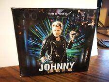 """JOHNNY HALLYDAY  Cofret 2 cassettes """" Allumé le feu """""""