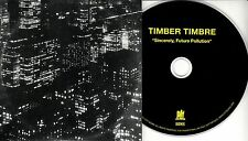 TIMBER TIMBRE Sincerely Noise Pollution 2017 UK 9-trk promo CD card sleeve