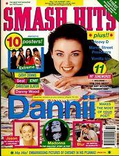 SMASH HITS 1991 DANNII MINOGUE MADONNA BLUR MANIC STREET PREACHERS METALLICA EMF