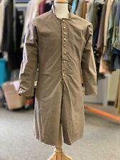 """Civil War Csa lined Twill Frock Coat, Brass Buttons. Sz 40"""" chest. Light weight."""