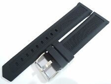 NEW 22MM BLACK RUBBER STRAP FITS TAG HEUER FORMULA 1 MEN'S WATCH