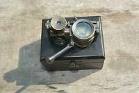 Vintage Brass Antique style Binocular Marine Compass Nautical Telescope Gift BOX