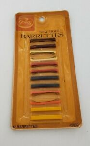 Goody 12 Stay Tight Clasp Barrettes Made In USA  Vintage 1975 nos (G-1)