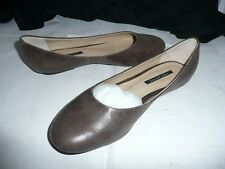 TONY BIANCO LADIES BROWN LEATHER FLAT SHOES SIZE 5