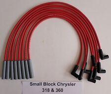 SMALL Block CHRYSLER 318-360 1971-1978 RED HEI 8mm Hi-Perfmance Spark Plug Wires
