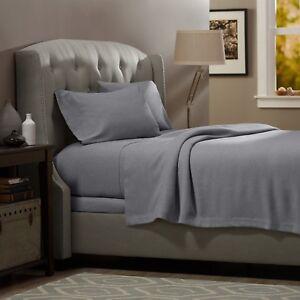 100% Egyptian Cotton Deep Pocket Flannel 4 Piece Bed Sheet Set