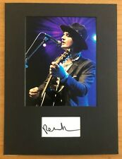 More details for peter doherty (the libertines pete)   **hand signed**  16x12 mounted display