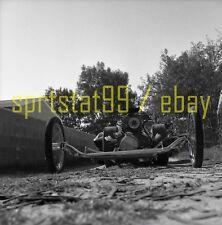 Front Engine Dragster - Ground View - Vintage Drag Race Negative
