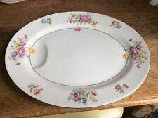 "Theodore Haviland New York Oval Serving Platter Pasadena pattern 13"" floral"