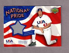 2004 UPPER DECK NATIONAL PRIDE MEMORABILIA 2 JERSEY card  GRAHAM KOONCE