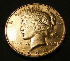 BU UNC 1925 S Peace Dollar 90% Silver Nice # 781531-68