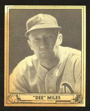 1940 Play Ball High # Card; Dee Miles #195; EX; Philadelphia Athletics