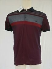 New With Tags Salvatore Ferragamo Mens Polo Shirt Grey/Red/Navy L