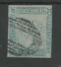 MAURITIUS  SG39 THE 1859  2d BLUE WORN IMPRESSION  USED CAT £900