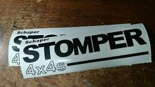 "2 Black 10"" Vinyl Schaper ""Stomper 4 X 4"" Sticker Decals"