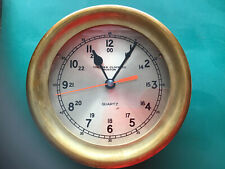 Chelsea Quartz Ships Clock ,Heavy Brass ,7 Inches Across