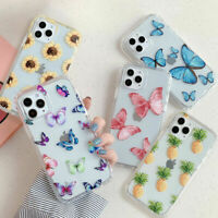 Clear Butterfly Phone Case Cover For iPhone 12 mini 11 Pro Max XS X XR 7 8 Plus