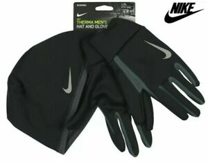 Nike Running Therma Men's Hat And Glove Set L/XL NEW