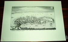 Lindau alte Ansicht Merian Druck Stich 1650 Panorama
