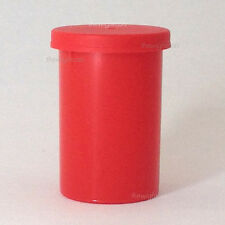 100x Film container canisters pots tubs with lids Red craft storage box
