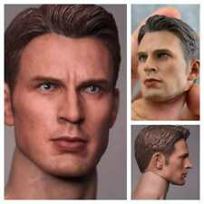 In-Stock 1/6 Scale Chris Evan Captain America 4.0 Head For Hot Toys HW/O Neck