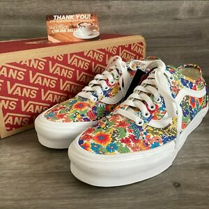 Vans x Liberty Fabrics Old Skool Tapered Floral Multicolor Size 8 Women's NWB