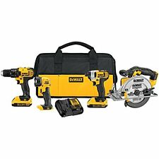 Four piece Drill Tool Set Combo Light Saw Build Gift Surprise Garage Shed Yard