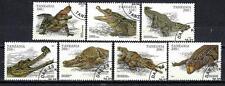 Animaux Crocodiles Tanzanie (176) série complète 7 timbres oblitérés