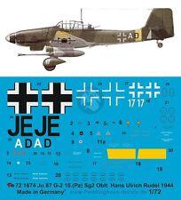 Peddinghaus 1/72 Ju 87 G-2 Markings Hans-Ulrich Rudel Stab III./SG 2 1944 1674
