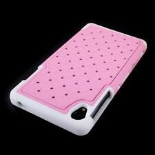 CoverON® For Sony Xperia Z3 Case - Hybrid Diamond Hard Light Pink & White Cover