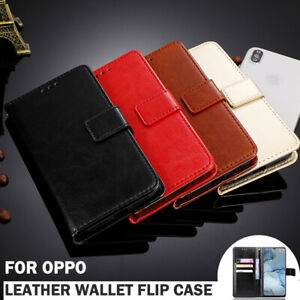 For OPPO Find X2 Pro Lite Neo A9/A5 2020 A52 A92 Case Leather Wallet Flip Cover
