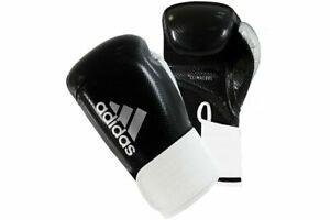 Adidas Hybrid 65 Boxing Gloves Black Climacool Lined Sparring 10 12 14 16 oz