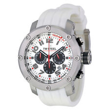 TW Steel Grandeur Tech 45mm White Dial Chronograph Mens Watch TW122