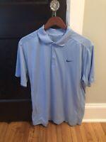 Blue Nike Polo Large Carolina Blue Short Sleeve Men's Golf L