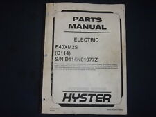 Hyster E40xm2s Electric Forklift Lift Truck Parts Manual Book Catalog