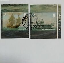 GB 2019 pair of very fine used Royal Navy Booklet Self Adhesive Stamps.