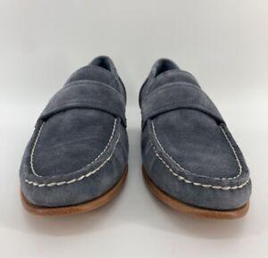 Calvin Klein Mens Baron Loafer Shoes Gray Moc Toe Slip Ons 7 M EUR 39 New