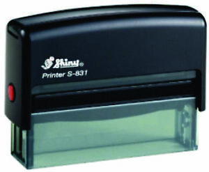 Self Inking Rubber Stamp Shiny S-831 67mm x 8mm