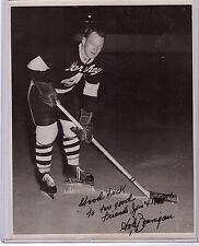 ANDY BRANIGAN SIGNED 8x10 PHOTO AUTO/AUTOGRAPH NHL NY AMERICANS 1940-42 D.1995