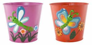 Tin Plant Pots - Colourful 17cm