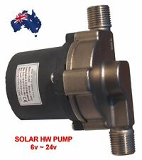 SOLAR HOT WATER PUMP 12v - 20 LPM - 4.5m Head - Stainless Steel