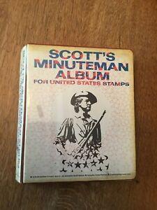 1970 Scott's Minuteman USA Stamp Album w/ 100s of Stamps Album