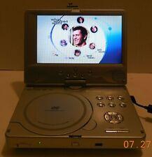 """Polaroid PDV-0821T 8"""" Silver Portable DVD Player Car Widescreen Movies Media"""