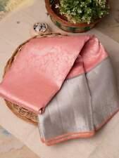 Designer Kanchipuram Silk Pink Saree Bollywood Wedding Party Wear Sari Blouse