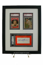 Framed Display for your PSA/DNA Slabbed Autograph & Two PSA Graded Cards