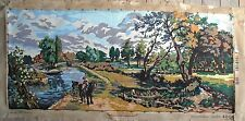 Vintage Completed Constable Flatford Mill Royal Paris Needlepoint Tapestry Paris