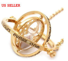US! Harry Potter Time Turner Hermione Granger Rotating Necklace Hour Hourglasses