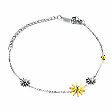 Brand New Women Stainless Steel Anklet or snowflake Charms Bracelet 6.3''+6cm