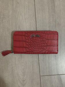 BN Folli follie large Ruby Croc Red zip around Purse